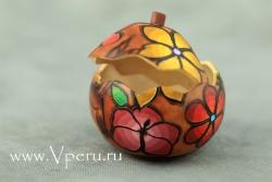 Шкатулки из тыквы ручной работы, специальный дизайн с цветами