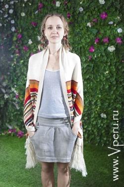 Шаль - пончо, самое красивое и теплое пончо, с специальным дизайном