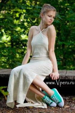 Летнее платье из хлопка Перу