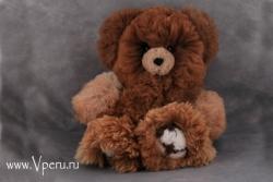 Мишка большой - мягкая игрушка  ручной работы, из натурального меха альпака.