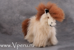 Мягкая игрушка лошадка из натурального меха альпака
