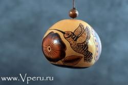 """ёлочные украшения, новогодняя игрушка """"Колибри"""""""