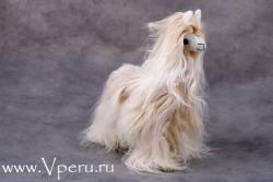 мягкая игрушка лама из натурального меха альпака сури