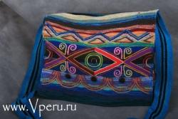 Сумки на плечо синяя - дизайнерской работы из Перу