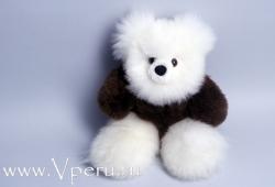 фото мягкая игрушка  мишка из натурального меха альпака бэйби