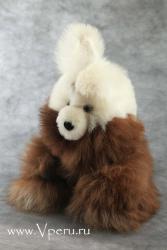 мягкая игрушка Ушастый Зайчик из натурального меха альпака