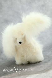 мягкая игрушка собака из натурального меха альпака